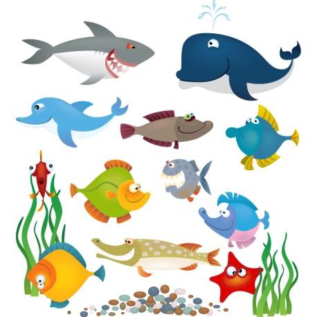 Vinilo infantil peces