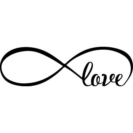 Vinilo amor infinito love cabecero cama