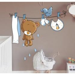Vinilo infantil oso tendido
