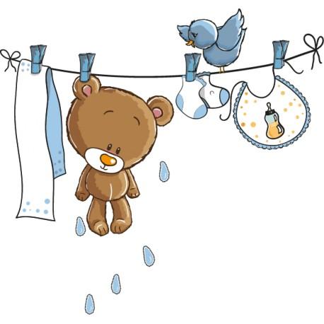Vinilo oso mojado