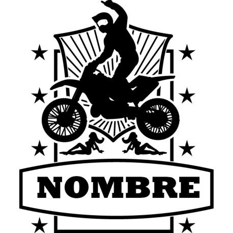 Vinilo campeón motocross personalizable