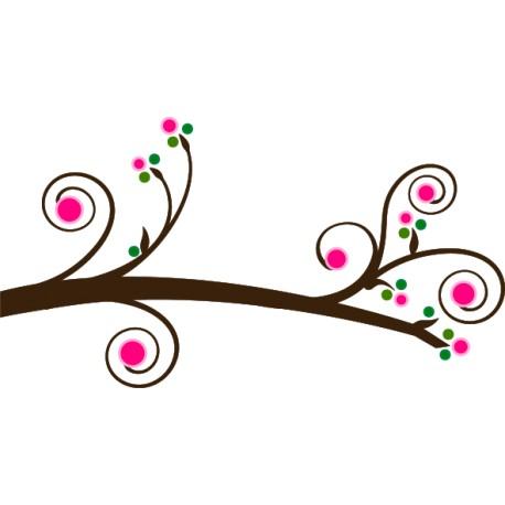 Vinilo pared rama rosada
