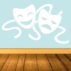 Vinilo máscaras teatro