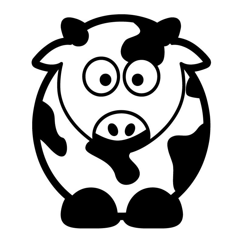 Vinilo decorativo infantil vaca - Foto en vinilo ...