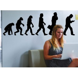 Pegatina evolución tecnología