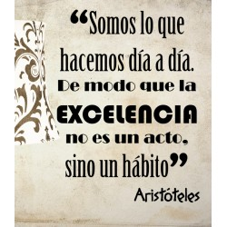 Vinilo frase Aristóteles