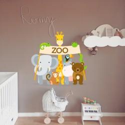 Vinilo infantil animales zoológicos