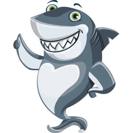Vinilo infantil tiburón