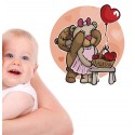 Vinilo infantil ositos enamorados