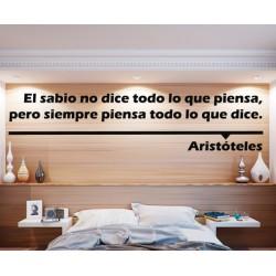 Vinilo decorativo Aristóteles sabio