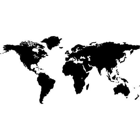 Vinilo mapa mundi simplificado