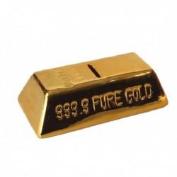 Hucha lingote oro