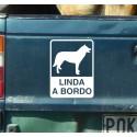 Pegatina personalizada perro a bordo