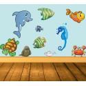 Vinilo animales acuáticos