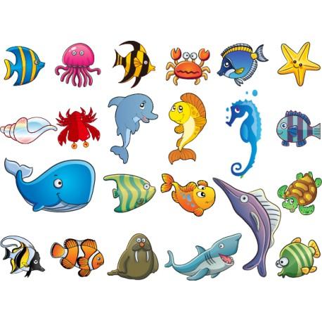 Vinilo infantil animales acuáticos