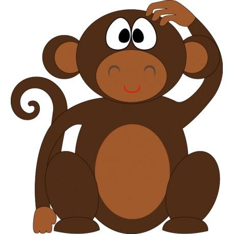 Vinilo infantil mono rascándose