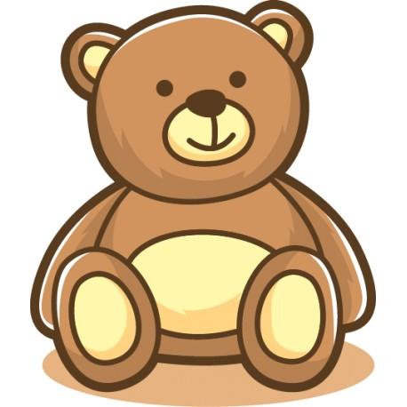 Vinilo infantil oso sentado