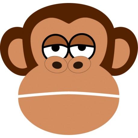 Vinilo infantil cara chimpancé