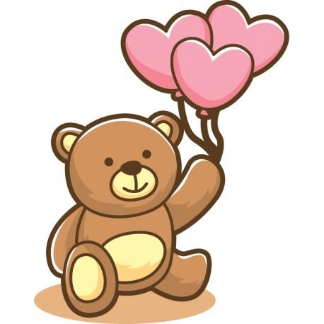 Vinilo oso corazones