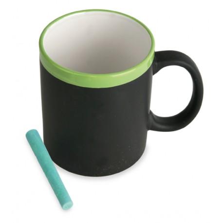 Taza pizarra entera verde