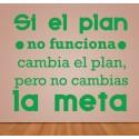 Vinilo si el plan no funciona