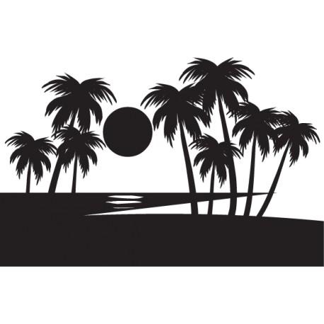 Vinilo decorativo playa paradisíaca