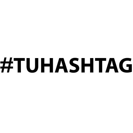 pegatina personalizada hashtag