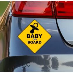 Pegatina advertencia bebé