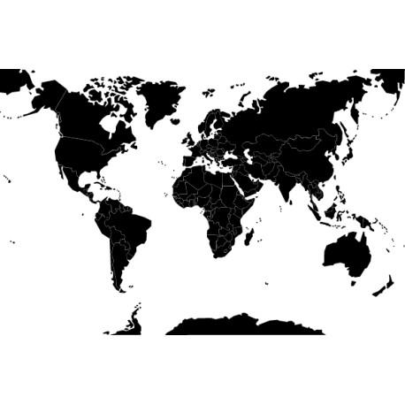 Vinilo mapamundi fronteras