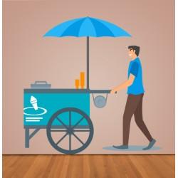 Vinilo vendedor helados