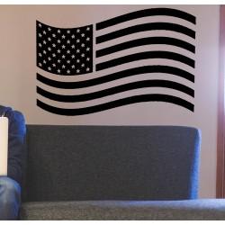 Vinilo decorativo bandera americana ondeando