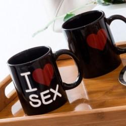 Taza mágica I Love Sex
