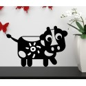 Vinilo infantil pizarra vaca