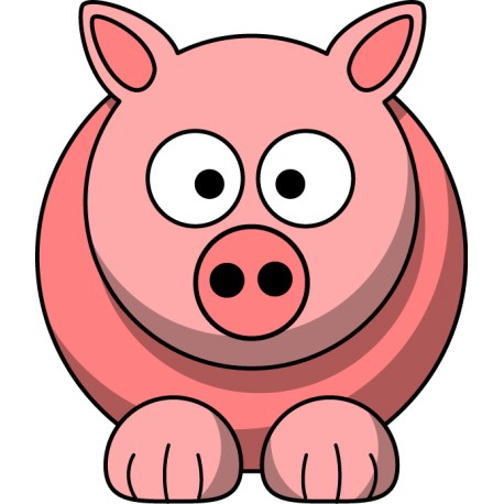 Vinilo icono cerdo