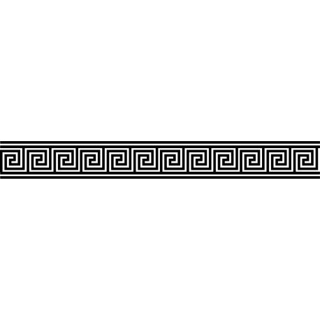 Vinilo cenefa griega cuadrada