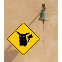 Pegatina advertencia Pokémon