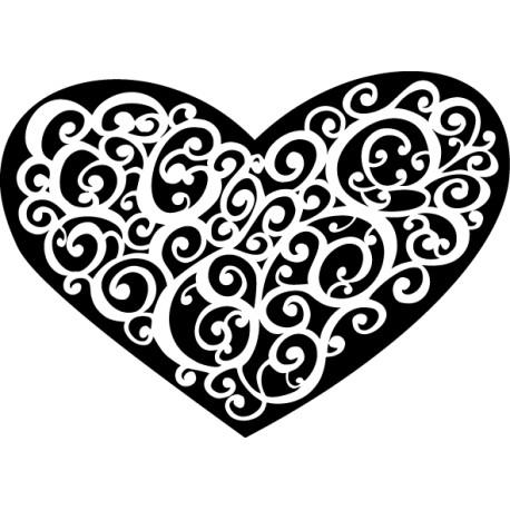 Vinilo corazón abstracto