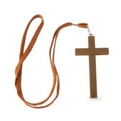 Bolígrafo cruz marrón