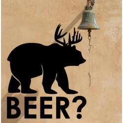 Vinilo oso cerveza