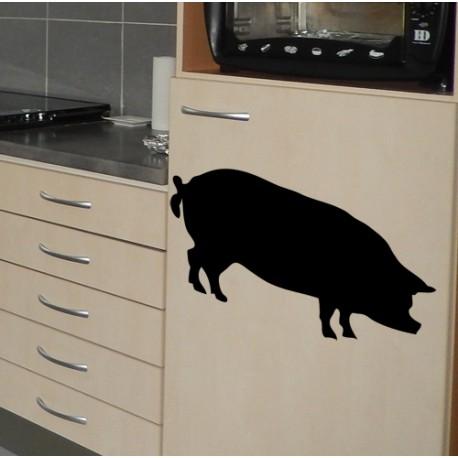 Vinilo pizarra cerdo
