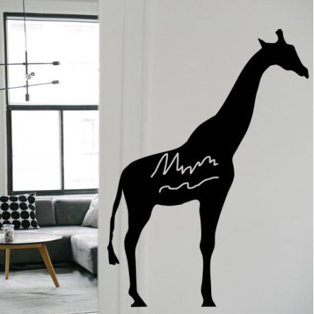 Vinilo pizarra jirafa