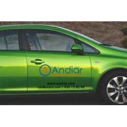 Rotulación lateral vehículo