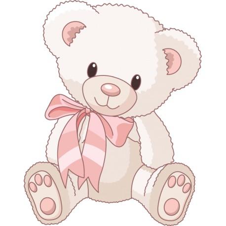 Vinilo infantil osito rosa