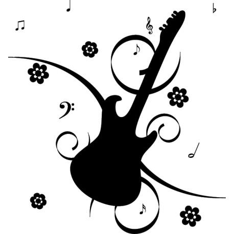 Vinilo decorativo guitarra musical