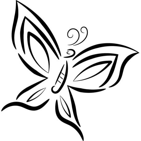 Vinilo mariposa libre