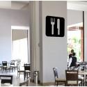 Vinilo icono restaurante