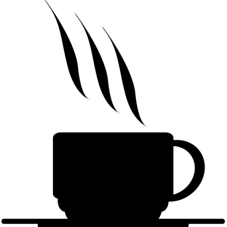Pegatina icono café