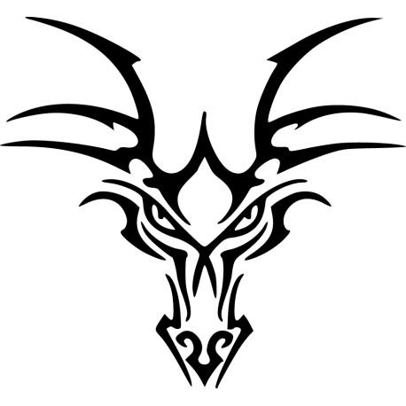 Vinilo animal ciervo abstracto