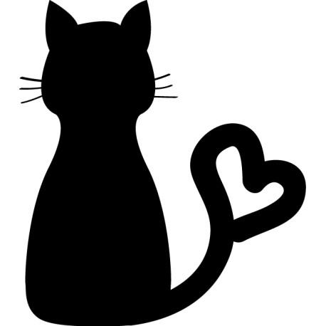 Vinilo gato amoroso