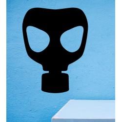 Pegatina máscara de gas